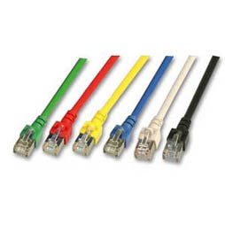 Patchkabel RJ45, 1.0m gelb, CAT5e, S-FTP(SF/UTP)