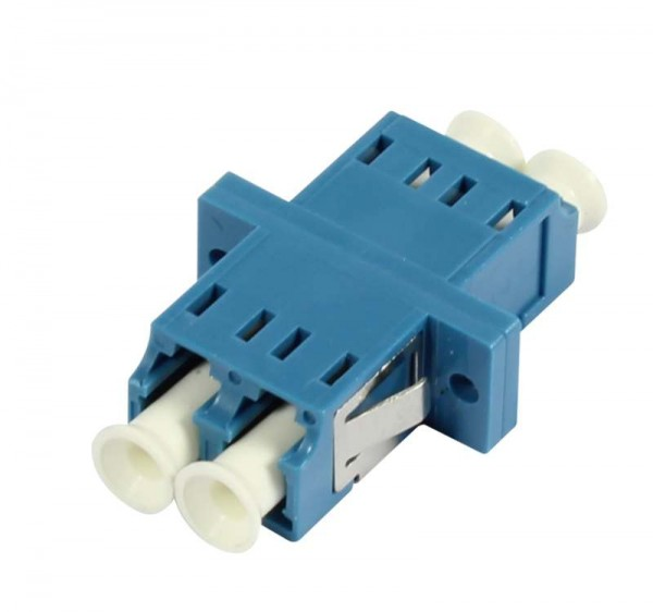 LWL-Kupplung, LC-Buchse/LC-Buchse, 9/125u Singlemode, duplex, PVC, Keramikhülse, mit Flansch, Synergy 21
