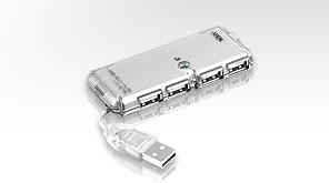 Aten USB-Hub 4-fach, USB 2.0,