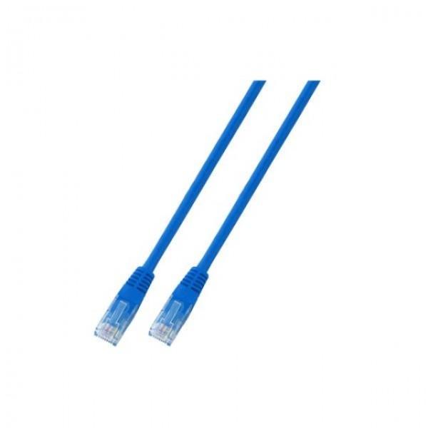 Patchkabel RJ45 UTP(U/UTP), 0.5m blau, CAT5e