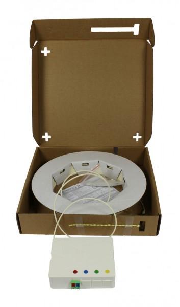 FTTH Compact Box vorkonfektioniert, 2xLC/APC -> open End, 40m, 9/125u, G.657.A2, 2-Faser, OD=2,2mm, Synergy 21