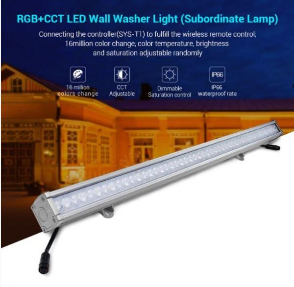 Synergy 21 LED Suborinate Wandfluter 24W RGB+CCT IP66 24V *MiLight*