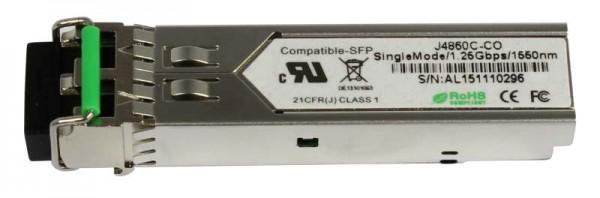 GBIC-Mini, SFP, 1000, ZX/LC, kompatible für HP, bis 80Km, HP-Code,