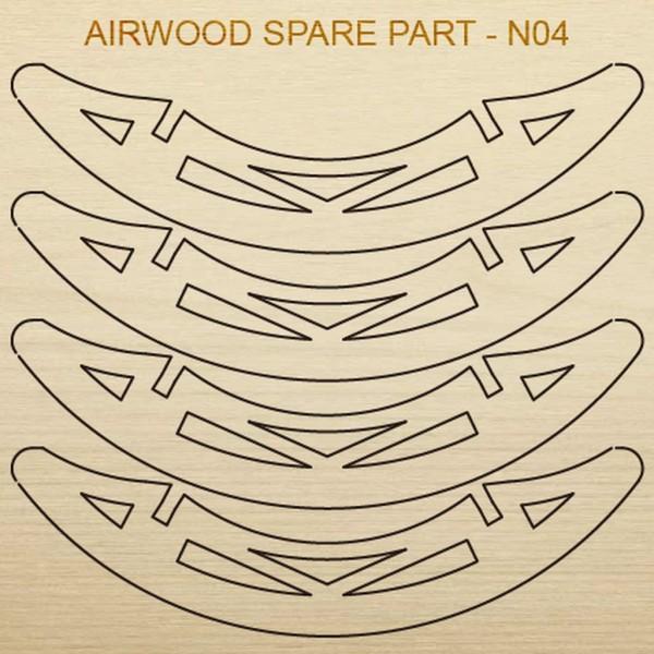 Airwood Holz Ersatzteil N04 / Spare Wood Part N04