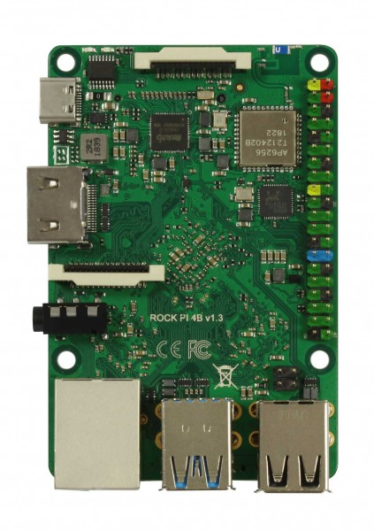 Rock Pi 4 Model A 2GB (ohne WLAN/Bluetooth/PoE)