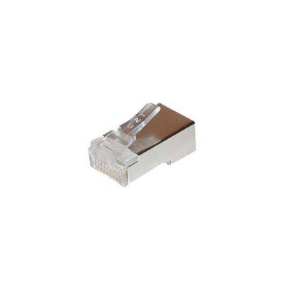 TP-Stecker TP, S-UTP, 100-Pack, ohne Tülle, Einfädelkamm einge
