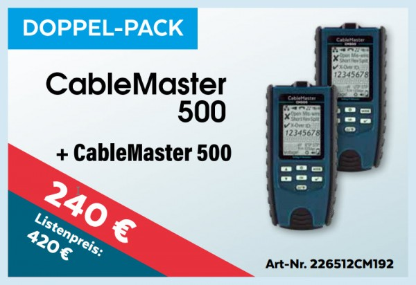 softing(Psiber) CableMaster 500 2x, Promo bis 15.1.2020, Mess-Menü, Doppel-Pack