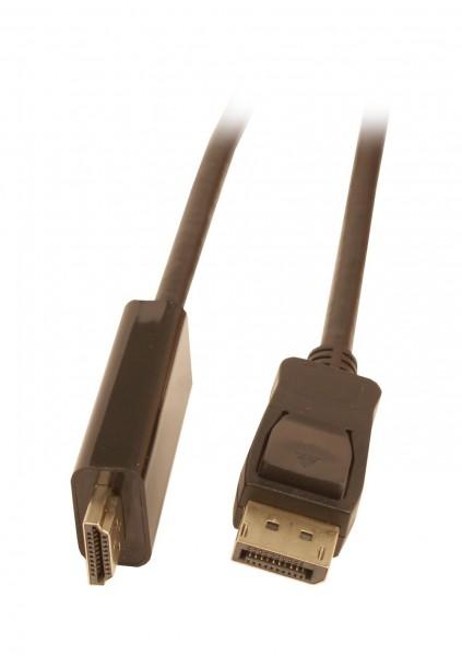 Kabel Video DisplayPort 1.2 => HDMI 2.0, ST/ST, 2m, Ultra HD 4K@60hz 4:4:4, 8 Bit HDR, Synergy 21