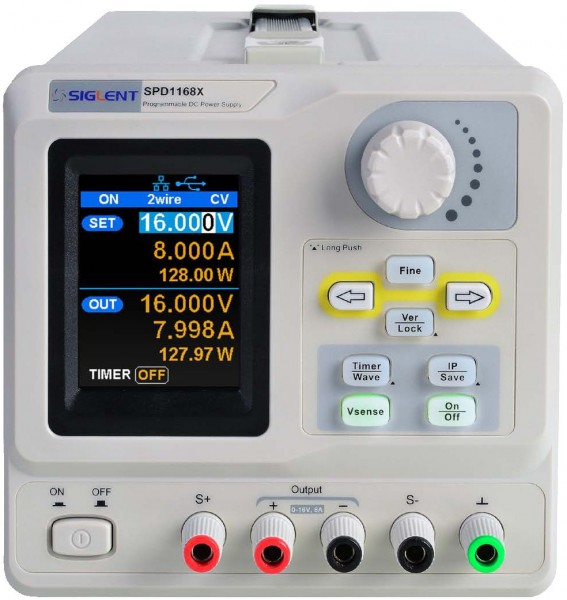Siglent SPD1168X / 1-Kanal Labornetzteil, Auflösung 1mV/1mA, 128 W