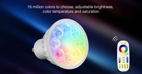 Synergy 21 LED Retrofit GU10 4W RGB-WW Lampe mit Funk und WLAN *Milight/Miboxer*