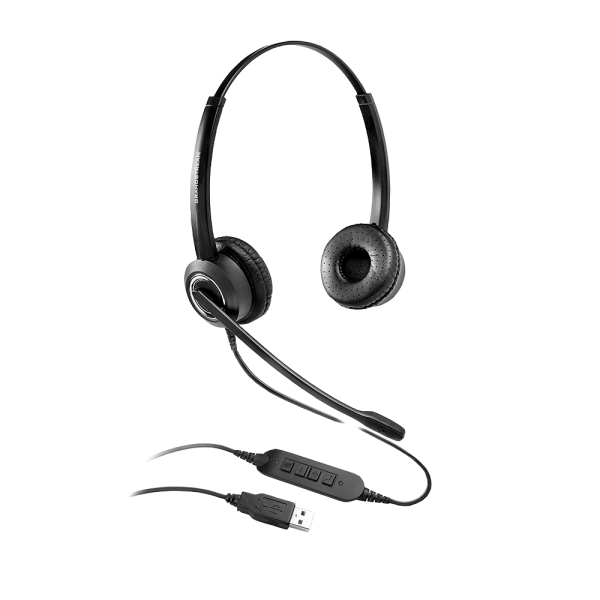 Grandstream GUV3000 HD-USB-Headsets mit Mikrofon mit Rauschunterdrückung