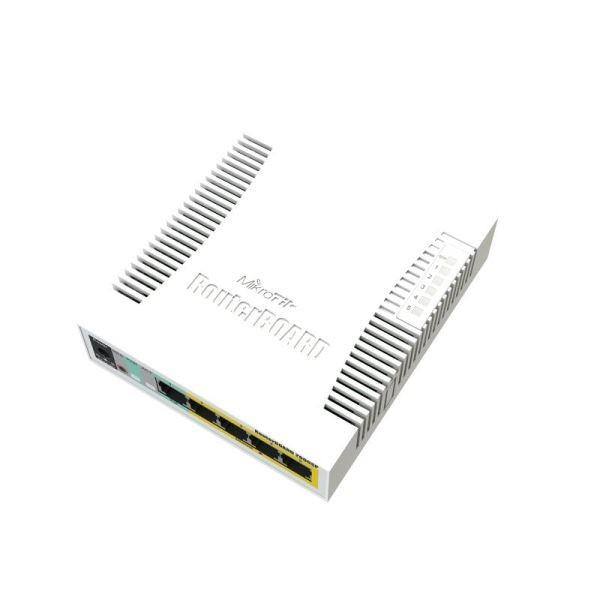 MikroTik Cloud Smart Switch CSS106-1G-4P-1S, 5x Gigabit, 1x SFP, POE, RB260GSP