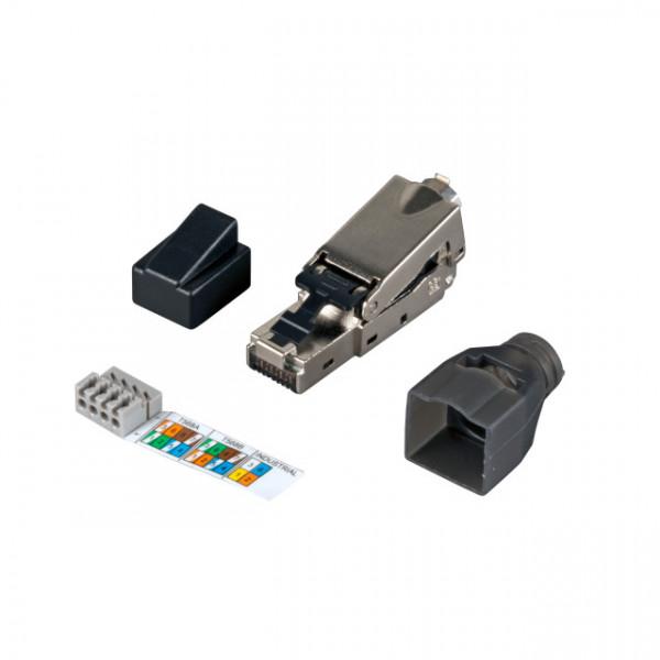 TP-Stecker TP, Feldkonfektionierbar, CAT6, RJ45, Werkzeuglos, Infralan,