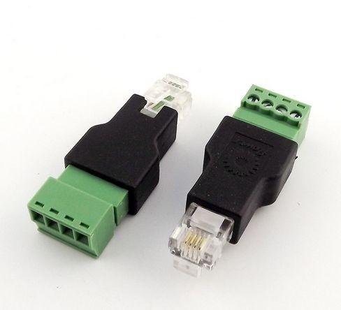 Kabel TK RJ11-Stecker, 6P4C-Terminalblock/Schraubkontakt *2er-Pack*