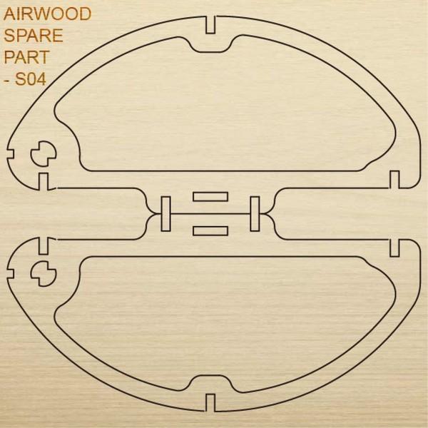 Airwood Holz Ersatzteil S04 / Spare Wood Part S04