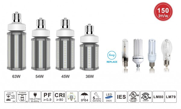 Synergy 21 LED HID Corn Retrofit E40 360° 45W nw mit ii