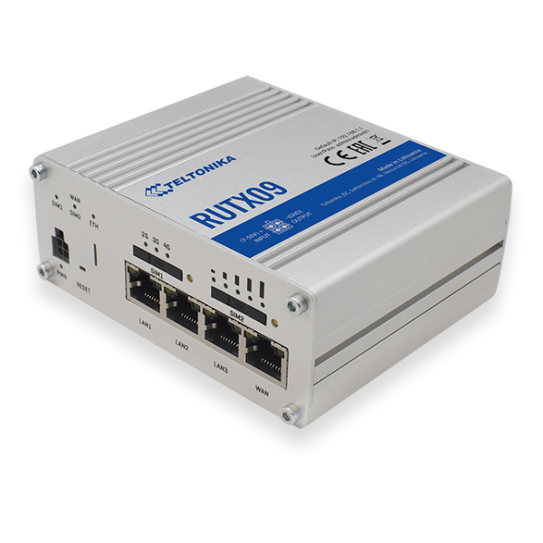 """Teltonika RUTX09 Industrial LTE Modem Router Cat6 """"ONLY LAN"""" 300Mbps Down/42Mbps UP"""