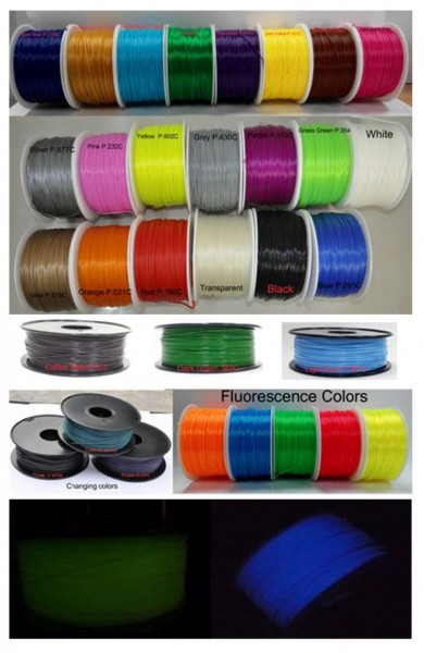 Synergy 21 3D Filament ABS /Changing color /3MM/ grün to gelb