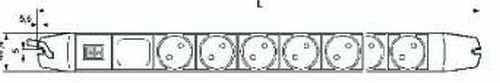 Knürr Steckdosenleiste, 6xDosen(CEE7)->Stecker(CEE7), Schal