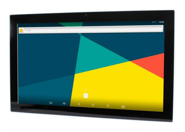 ALLNET Touch Display Tablet 21 Zoll PoE mit 2GB/16GB, A64 Android 6.0, Wlan, RJ45, USB, Micro, Wandmontage etc.
