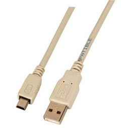 Patchkabel USB2.0mini 1.5m A(St)/B(St)-mini, 5-pol, Grau