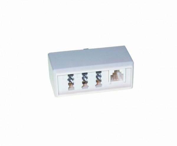 Kabel TK TAE-Adapter, TAE-F-Stecker/NFF+RJ11-Buchsen,