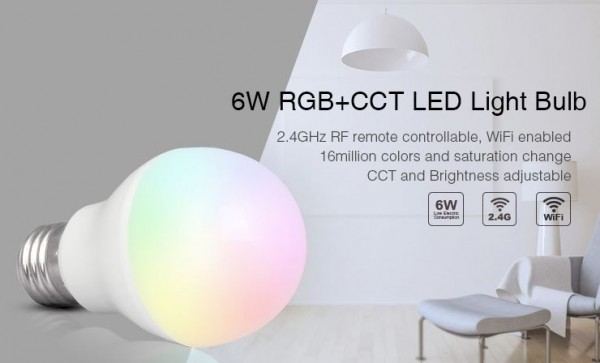 Synergy 21 LED Retrofit E27 6W RGB-WW Lampe mit Funk und WLAN *Milight/Miboxer*