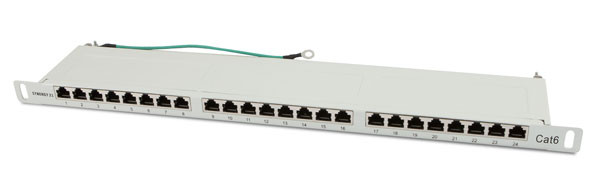 "Patch Panel 24xTP, CAT6, 250Mhz, 19"", Lichtgrau Synergy 21, 0, 5HE"