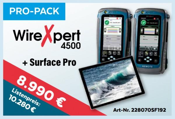 softing(Psiber) NetXpert 4500+Surface Pro, Promo bis 15.1.2020, Mess-Menü, Pro-Pack,