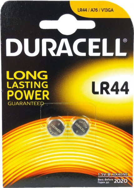 Batterien Knopfzelle LR44/LR1154 *Duracell* 2er Pack