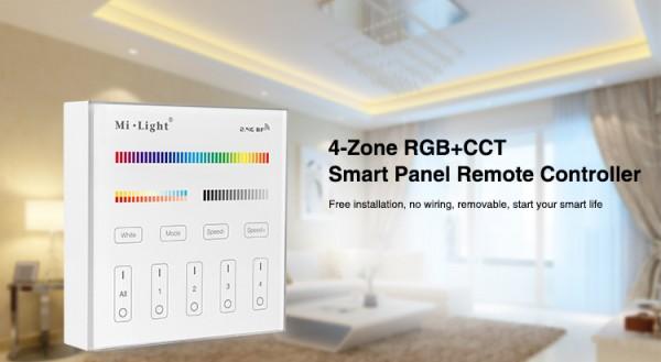 Synergy 21 LED Fernbedienung Smart Panel RGB-WW (RGB-CCT) 4 Zonen *Milight/Miboxer*