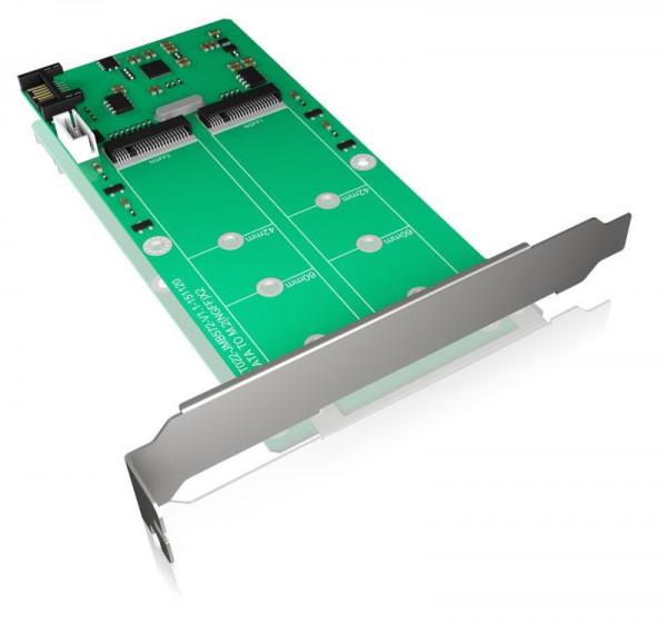 ICY Box Schnittstellenkarte, M.2 SATA, SATA, 2x, Konverterkarte, IB-CVB513