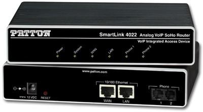 Patton Inalp SmartLink 4022, 2 FXS VoIP GW-Router