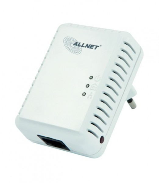 ALLNET Schweiz Powerline 500Mbit 1er Bridge RJ45 ALL168250 Homeplug AV - max. 8 Nodes