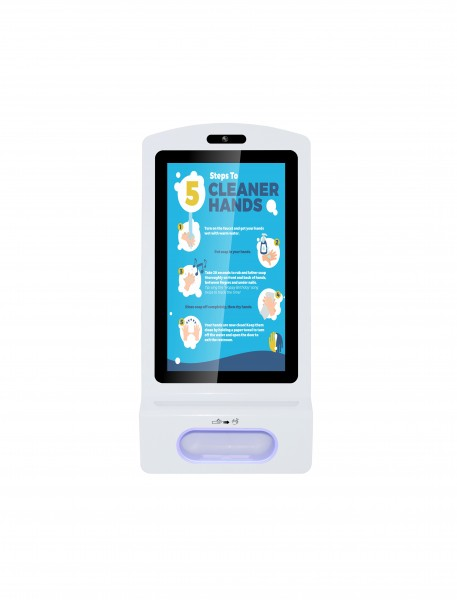 Allnet Display 21 Zoll, Desinfektion Kioskterminal, Android 7, RK3288, Farbe weiß oh. Standfuß