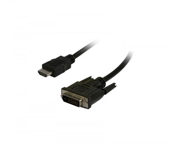 Kabel Video HDMI 1.4 => DVI-D, 3m, Ultra HD 4K*2K 3840*2160@30hz, Synergy21,