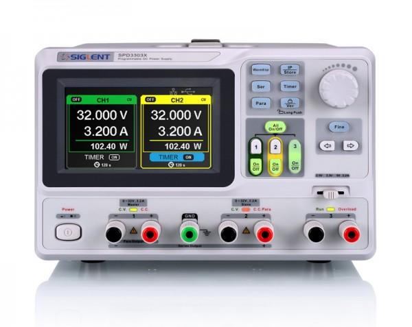Siglent SPD3303X-E / 3-Kanal Labornetzteil, Auflösung 10mV-, 10A