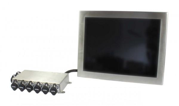 ALLNET AIO PC IP67 industrial stainless steel, 15 Zoll Touch, Intel Core i3, 4GB/64GB, Wlan, RJ45, USB, Wandmontage etc.