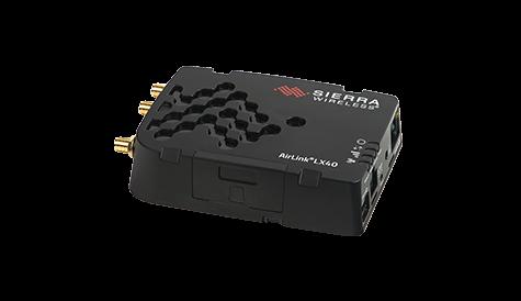 Sierra Wireless LX40 kompakter LTE, LTE-M und NB-IoT Router. PoE Stromversorgung