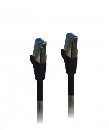 Patchkabel RJ45, CAT6A 500Mhz, 7.5m, schwarz, S-STP(S/FTP),TPE(Superflex), Synergy 21