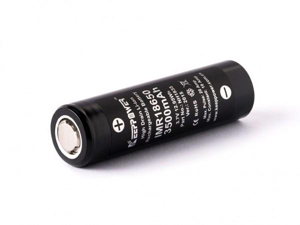 ALLNET Powerbank 18650 zbh. Keeppower IMR18650/Panasonic NCR18650GA 3,6V - 3,7V 3500mAh Li-Ionen/Battery Akku *ALLTRAVEL* +Gelabelt/Retail+ 2er Pack
