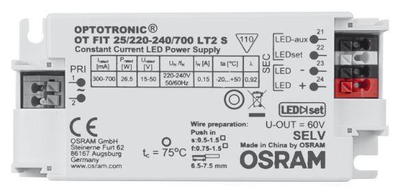 Osram Netzteil - CC Driver 300~700mA, 15~50V