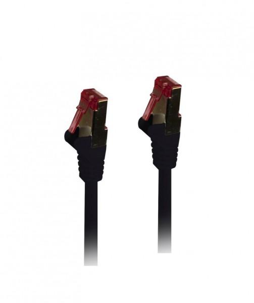 Patchkabel RJ45, CAT6 250Mhz, 0.5m schwarz, S-STP(S/FTP),TPE(Superflex), Synergy 21,