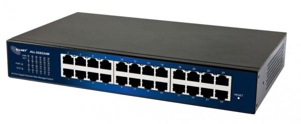 ALLNET ALL-SG8324M / 24 Port Gigabit, smart managed, lüfterlos, SNMP