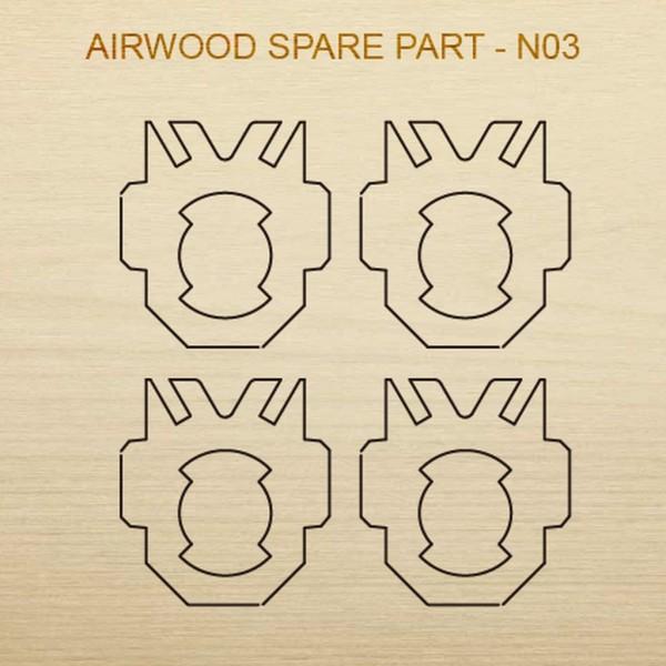 Airwood Holz Ersatzteil N03 / Spare Wood Part N03