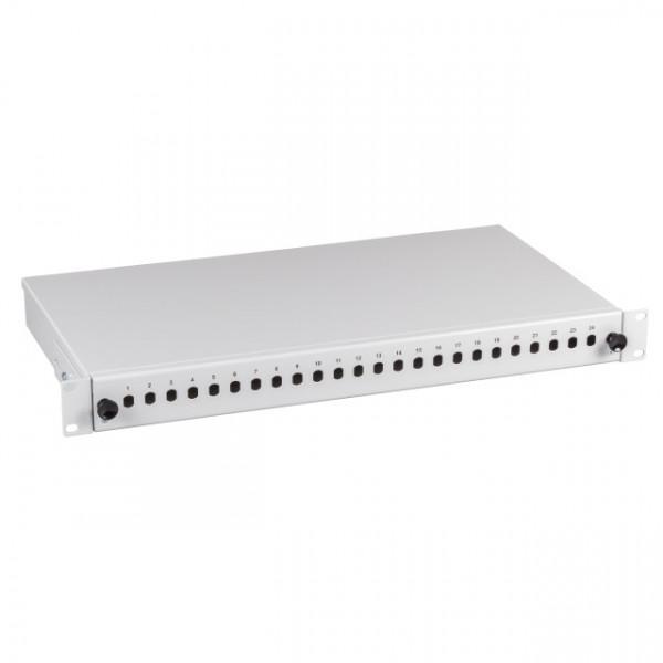 """LWL-Patchpanel 24xSC-simp.,E2000, LC, E2000, LC-Buchsen 19"""", ohne Kupplungen"""