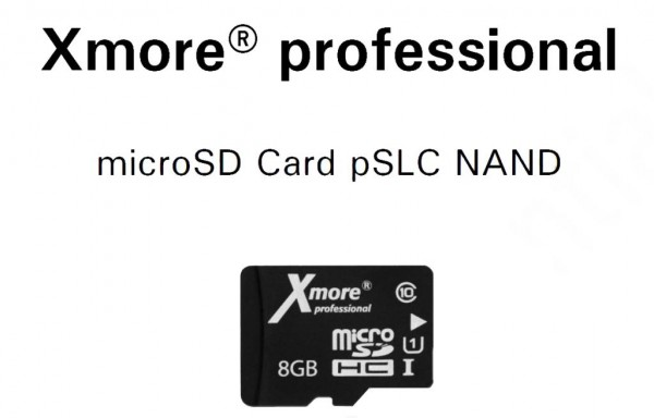 Flash Xmore microSD pSLC 8GB Industrial SD Karte