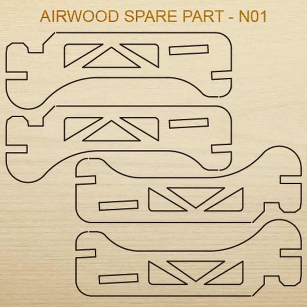 Airwood Holz Ersatzteil N01 / Spare Wood Part N01