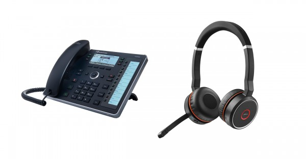 Audiocodes - Jabra Bundle, UC440HDEG & Evolve 75 Headset Duo USB / Bluetooth MS