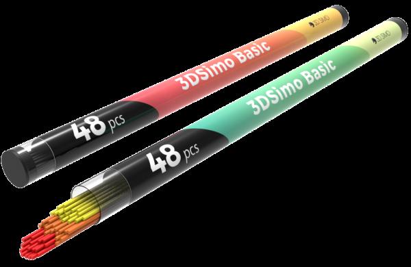 3Dsimo Filament PCL 1 gelb, orange & rot für 3Dsimo basic